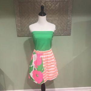 Lilly Pulitzer Fluer Neon Surprise Strapless Dress